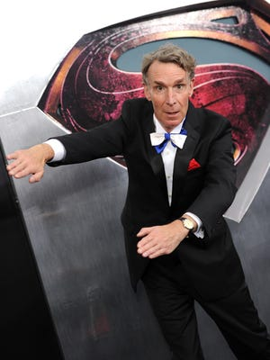 "Scientist Bill Nye attends the ""Man Of Steel"" explains the science behind asteroids in a new video for the ASAP Science YouTube channel."
