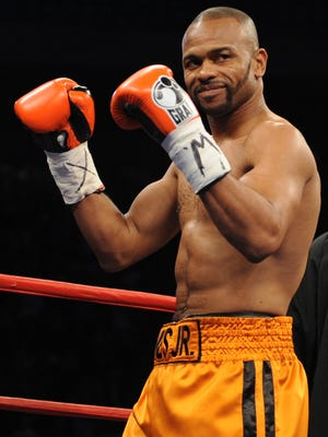 This file photo taken on November 8, 2008 shows boxer Roy Jones Jr. standing in the ring prior to his light-heavyweight showdown with Welshman Joe Calzaghe at Madison Square Garden.