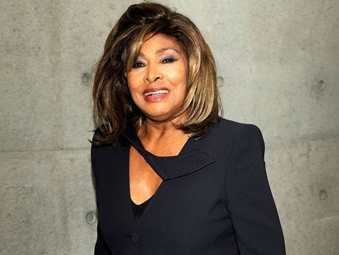 Tina Turner poses prior to attending the Giorgio Armani Fall/Winter 2011 collection presented in Milan on Feb. 28, 2011.