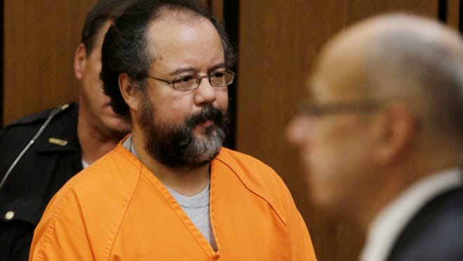 Ariel Castro enters the courtroom July 26 in Cleveland.