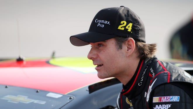 """Indianapolis Motor Speedway """"doesn't need lights, (but) I think it would be awesome to race here at night,"""" Jeff Gordon, above, said Friday."""