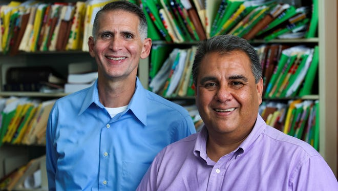 Greg Bourke, left, and Michael De Leon filed a federal lawsuit July 26, 2013, asking Kentucky to recognize same-sex marriages.