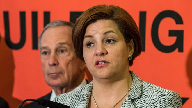 New York City Council Speaker Christine Quinn and the man she wants to replace, Mayor Michael Bloomberg.