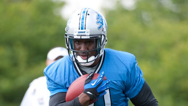 Reggie Bush during training camp at the Detroit Lions training facility.