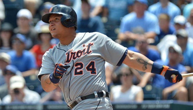 Miguel Cabrera astounds teammates and opponents alike with his ability to hit to the opposite field.