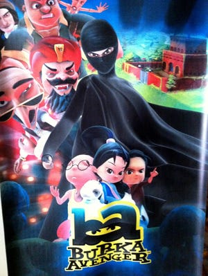 A poster for the 'Burka Avenger' cartoon series.