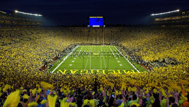 Michigan Stadium hosted its first ever night game in 2011, vs. Notre Dame.