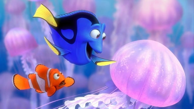 """Just keep swimming: Dory (Ellen DeGeneres) imparts some life lessons in 'Finding Nemo,' airing at 8 ET/PT on Encore."
