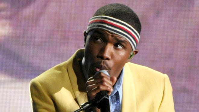 Frank Ocean performis at the 55th annual Grammy Awards in Los Angeles.