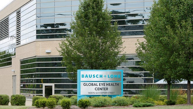 Bausch & Lomb's manufacturing plant in Rochester now houses much of the corporate staff since the eye-care company put its downtown headquarters building up for sale about 2 years ago.