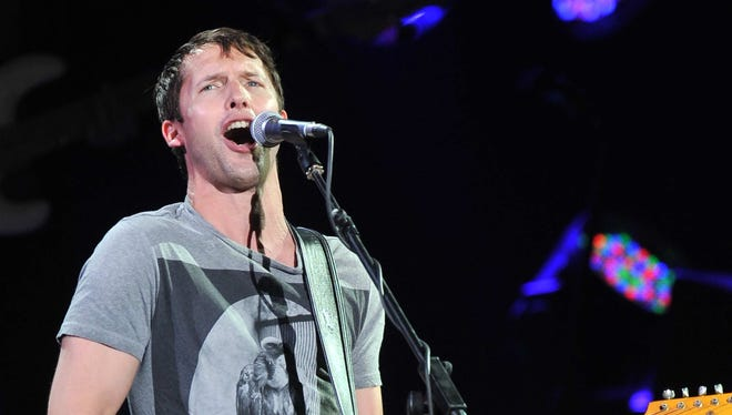 n James Blunt performs on stage during his concert in Beijing.