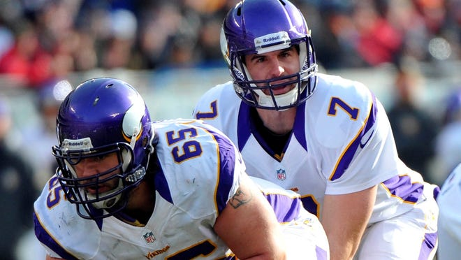 The Vikings should have their battery of C John Sullivan (65) and QB Christian Ponder ready to go for Week 1.