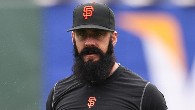 Brian Wilson has not pitched since having Tommy John surgery in April 2012.
