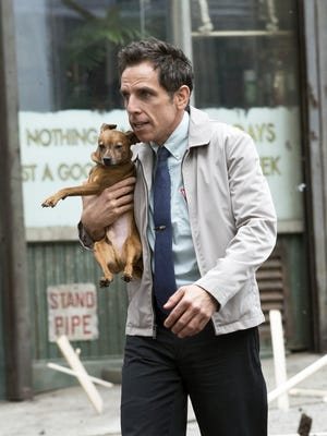 """Actor Ben Stiller films a scene for """"The Secret Life of Walter Mitty"""" on May 18, 2013 in New York City."""
