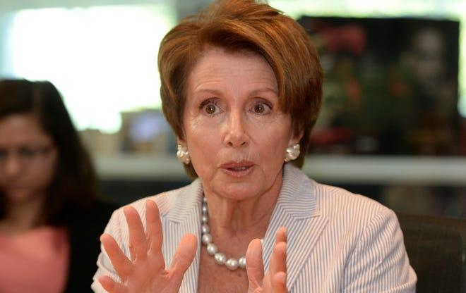 Nancy Pelosi speaks to USA TODAY's editorial board.