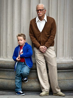 What a duo: Jackson Nicoll is Billy and Johnny Knoxville is Irving Zisman in 'Jackass Presents: Bad Grandpa.'