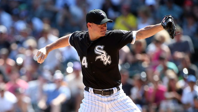 Jake Peavy was 8-4 with a 4.28 ERA in 13 starts for the White Sox this season.