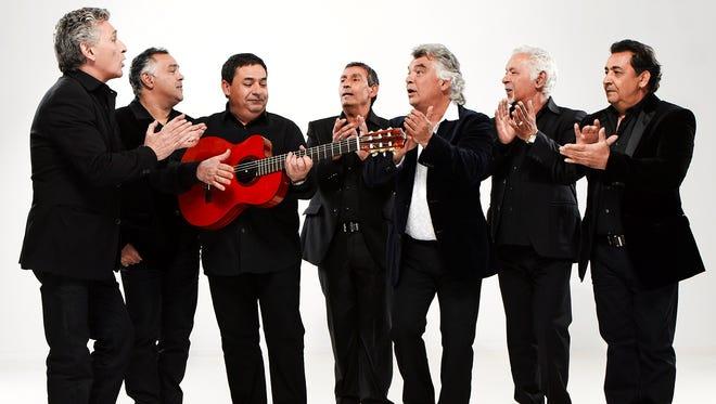The Gipsy Kings, from left, Patchai Reyes, Andre Reyes, Tonino Baliardo, Diego Baliardo, Nicolas Reyes, Pablo Reyes and Paco Baliardo