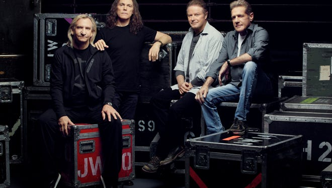 The Eagles, from left, Joe Walsh, Timothy B. Schmit, Don Henley and Glenn Frey