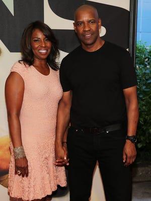 Pauletta Washington and Denzel Washington attend the '2 Guns' premiere on Monday in New York.