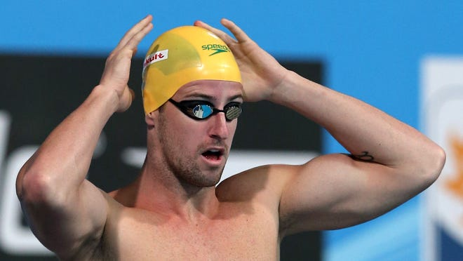 James Magnussen of Australia competes during the  men's 100 freestyle preliminaries at the 15th FINA World Championships at Palau Sant Jordi on Wednesday in Barcelona.