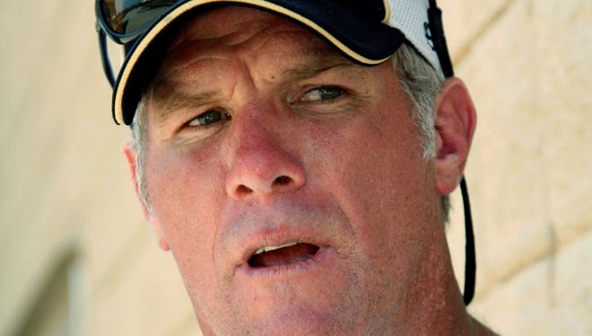 Former Packers quarterback Brett Favre, shown in 2012, is moving closer to having his jersey retired by the organization after several rocky years.