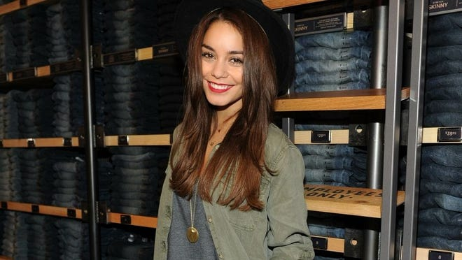 Vanessa Hudgens hosts the Rock Your Walk bash at American Eagle in Times Square on July 30.