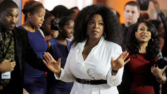 Oprah Winfrey at the 6th Annual Black Women in Hollywood luncheon in Beverly Hills on Feb. 21.