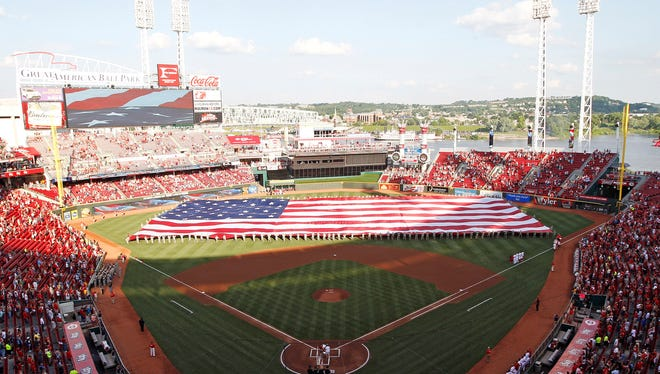 Cincinnati's Great American Ball Park opened in 2003.