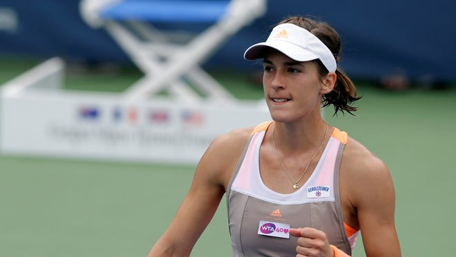 Andrea Petkovic of Germany breezes past compatriot Mona Barthel at the Citi Open on Wednesday.