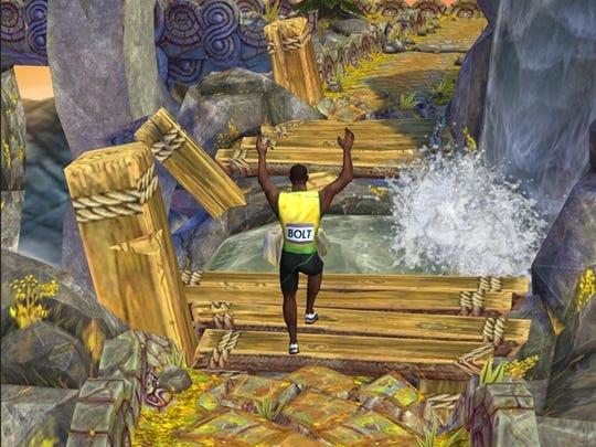 Usain Bolt in 'Temple Run 2.'