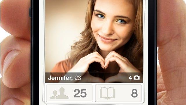 A screenshot of the mobile app Tinder.
