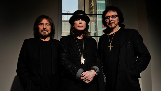 Portrait of the original members of Black Sabbath: Geezer Butler, Ozzy Osbourne and Tony Iommi. The reunited Black Sabbath will be releasing its first album with Ozzy Osbourne in 35 years in June.