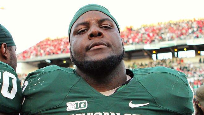 Michigan State defensive tackle Micajah Reynolds.