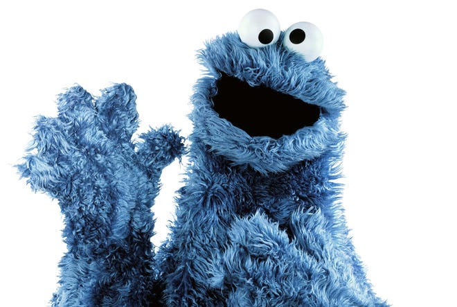 "Cookie Monster puts a cookie-themed spin on Icona Pop's hit single ""I Love It."""