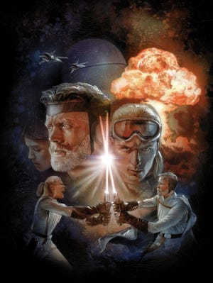 """Luke Skywalker, a military general, shows young Annikin Starkiller the ways of the Jedi in """"The Star Wars."""""""