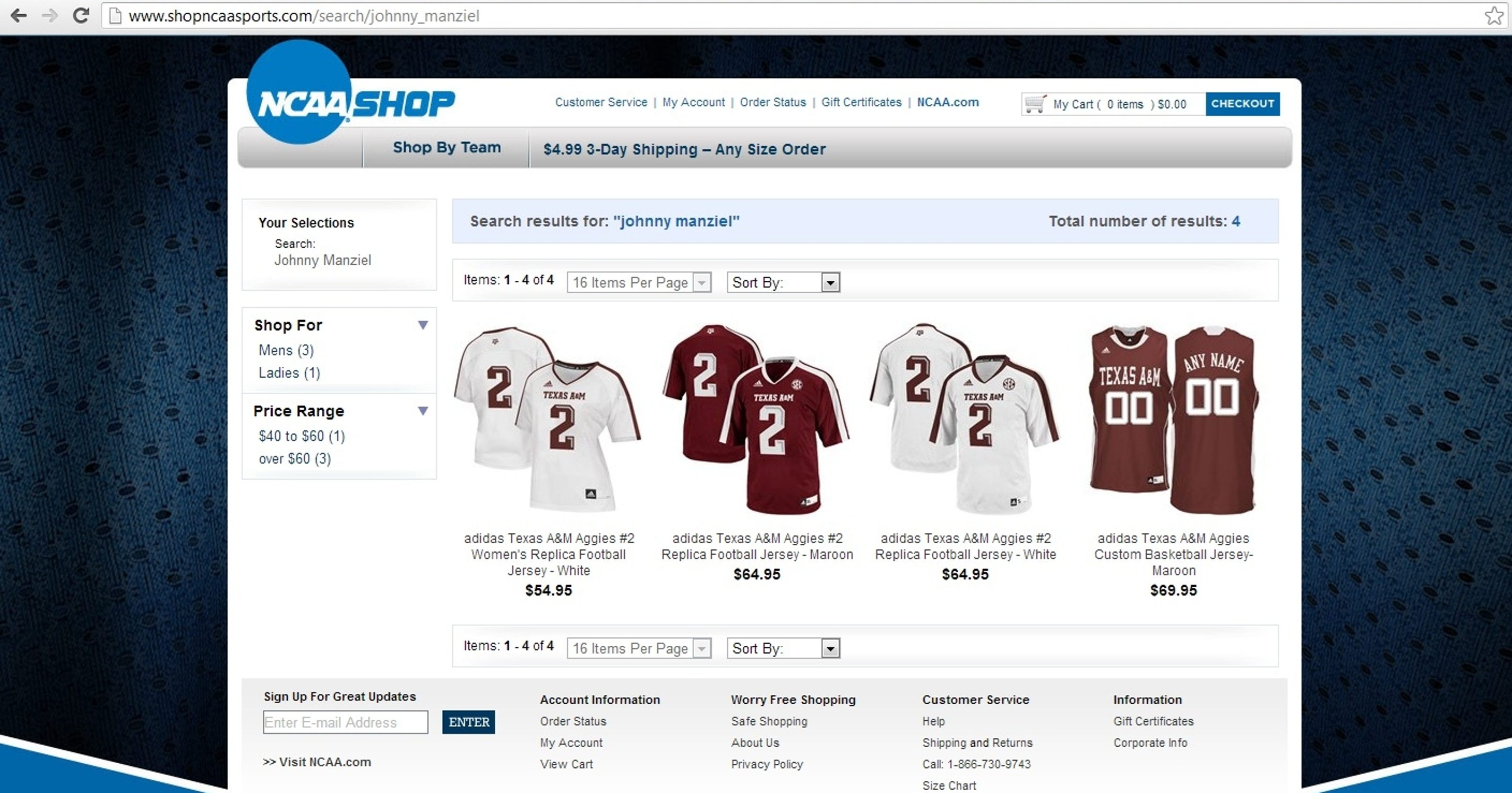 NCAA apparel sales site used athletes  names in search 1b4c87235