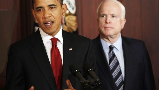 President Obama and John McCain