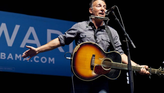 Bruce Springsteen plays politics in Ames, Iowa.