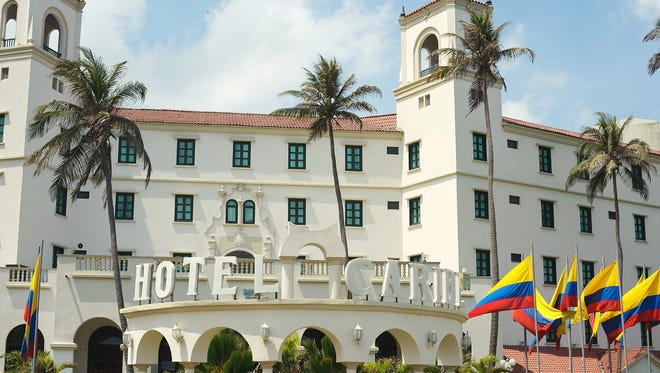 A general view of the Hotel Caribe in Cartagena, Colombia.