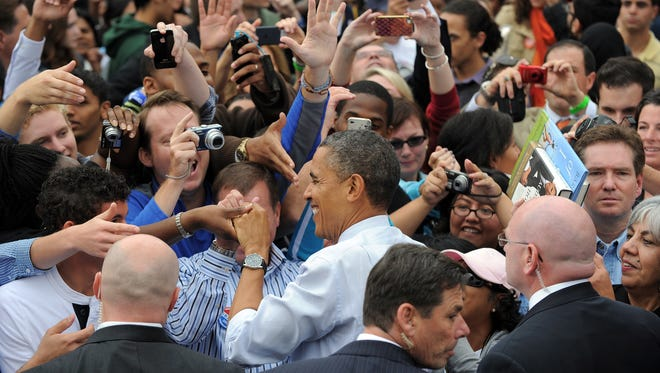President Obama on the campaign trail in Virginia