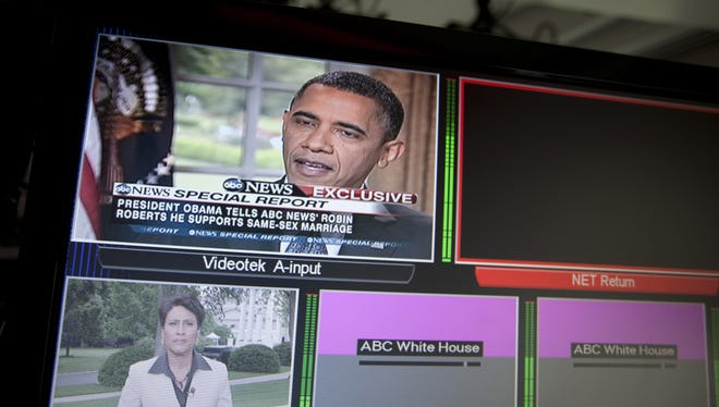 President Obama during a television interview in 2012.