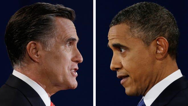 Mitt Romney, left, and President Obama