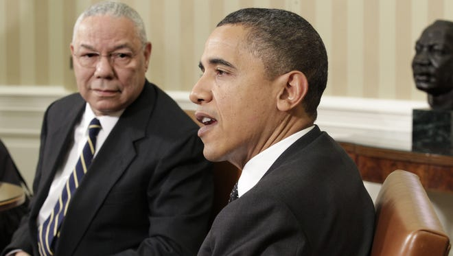 President Obama and Colin Powell in 2010