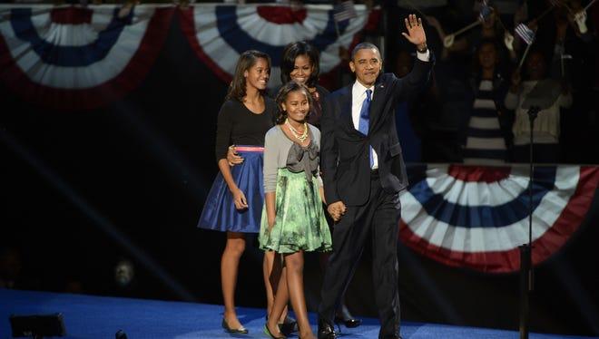 President Obama and family
