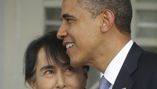 President Obama and Burma opposition leader Aung San Suu Kyi.