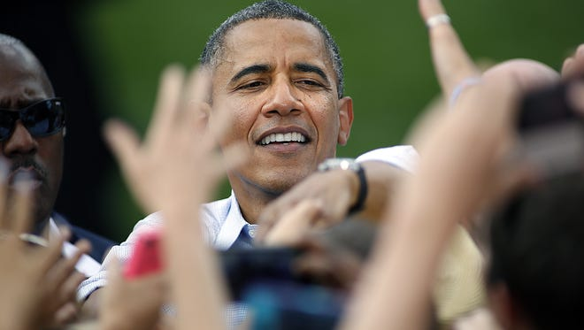 President Obama on the campaign trail.