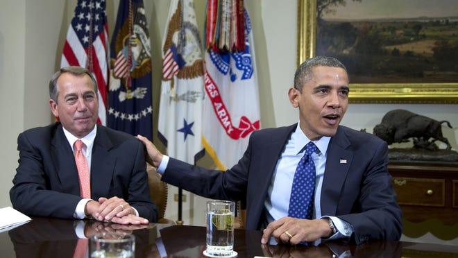 President Obama and House Speaker John Boehner, R-Ohio