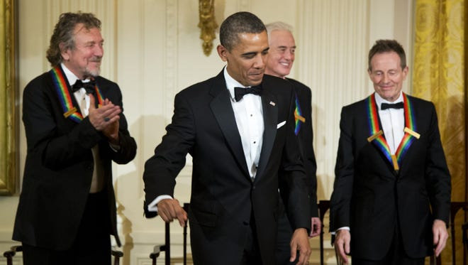 President Obama and members of Led Zeppelin