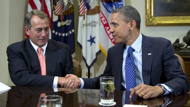 President Obama and John Boehner in November.